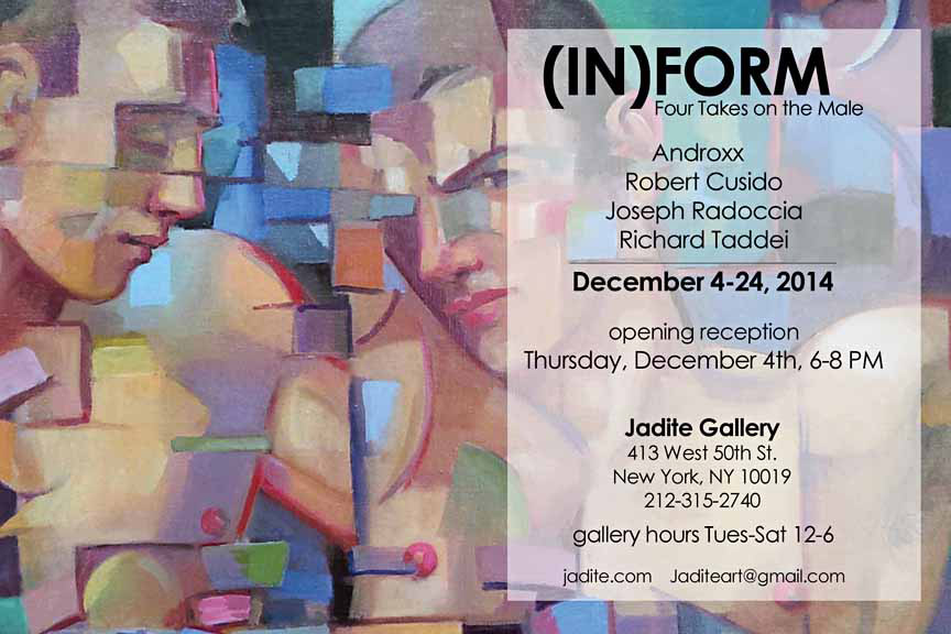 (in)FORM Four Takes on the Male Exhibit at Jadite Gallery